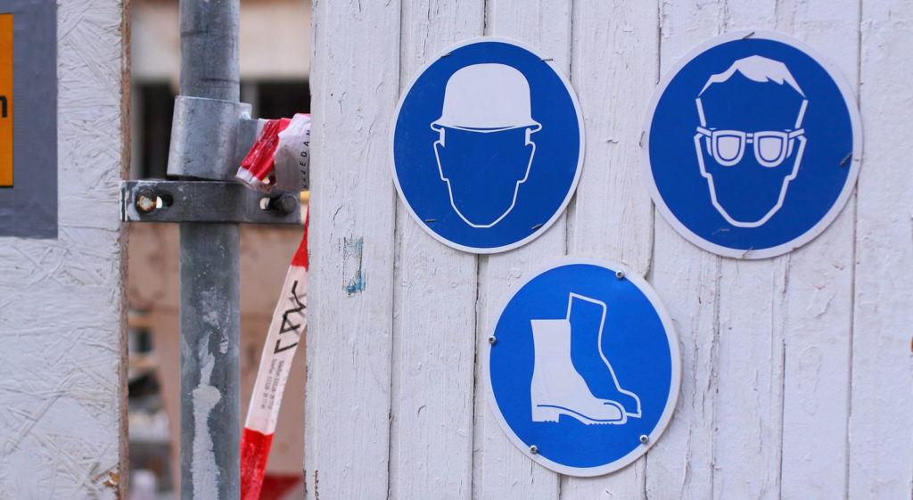 Building work signs