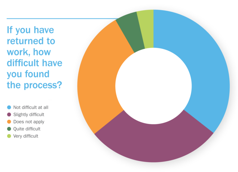Returned to work donut chart