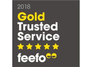 Feefo Gold Trusted Service 2018 logo
