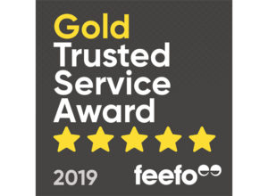 Feefo Gold Trusted Service 2019 logo